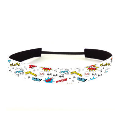 Comic Adventure White - Non Slip Adjustable Headband Thumbnail