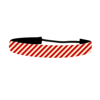 Red Stripes  - Non Slip Adjustable Headband Thumbnail