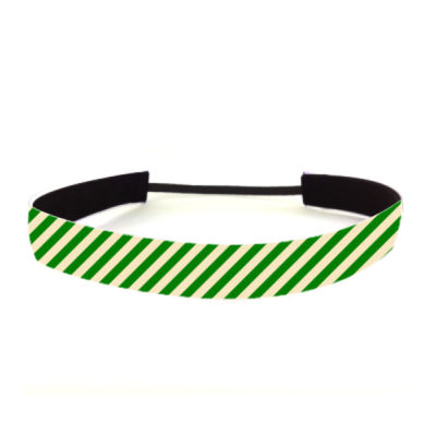 Green Stripe - Non Slip Adjustable Headband Thumbnail