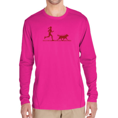 The Pacer - (S) Adult Tech Long-Sleeve Light Color T-Shirt Thumbnail