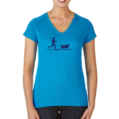 The Pacer - (S) Ladies' Tech Short-Sleeve V-Neck Light Color Shirt Thumbnail