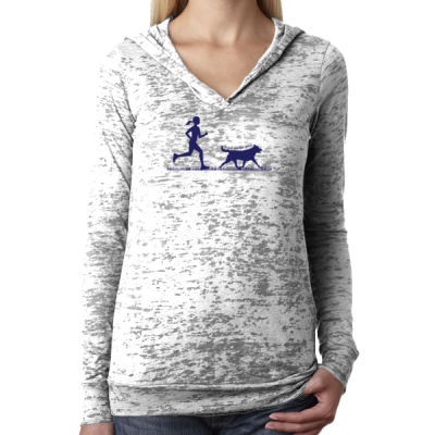 The Pacer - Ladies' Burnout Hoodie Thumbnail