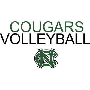 Cougars Volleyball with NC logo   DN Thumbnail