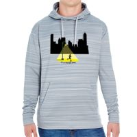 JAmerica Unisex Poly Fleece Striped Pullover Hoodie Thumbnail